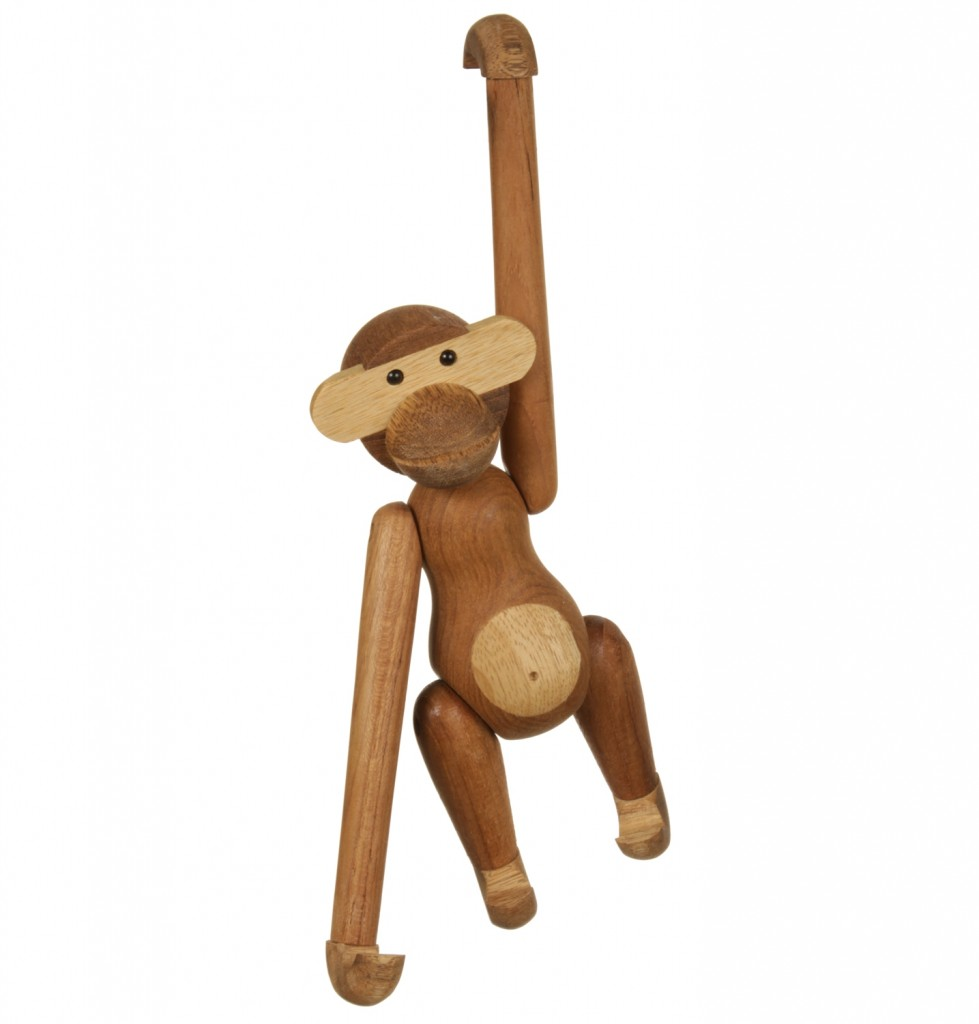 Replica-Kay-Bojesen-Teak-Monkey-Small