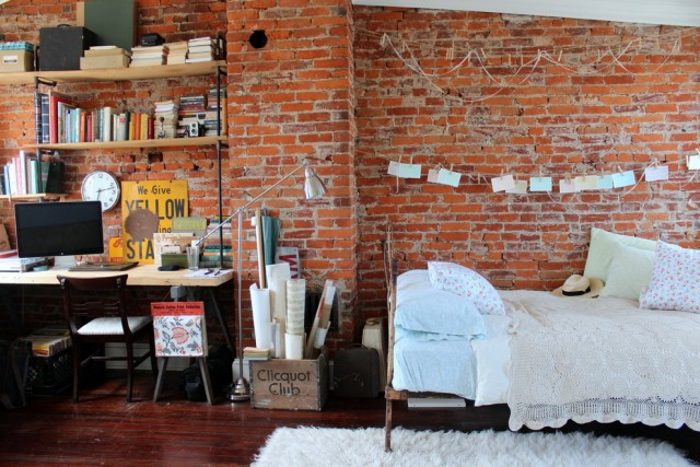 Handsome-Vintage-Signs-home-interior-design-Eclectic-Bedroom-Philadelphia