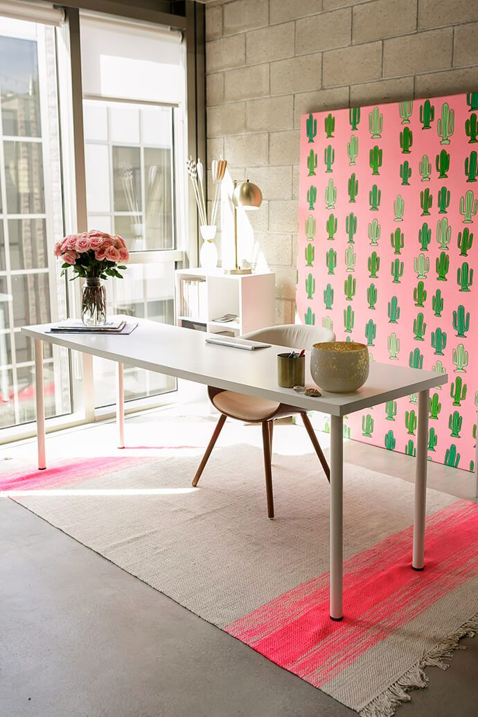 Beautiful Hot Pink Amp Black Office  My Makeup Room  Pinterest